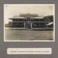 Offices of wealthy Portuguese merchant in Loanda