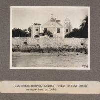 Old Dutch church, Loanda, built during Dutch occupation in 1664
